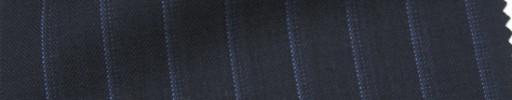 【Cb_Ls85】ダークネイビー+1.2cm巾ブルードットストライプ
