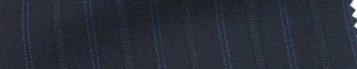 【Cb_Ls89】ダークネイビー+1.7cm巾ブルー・ドット交互ストライプ