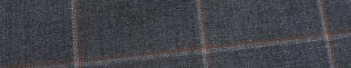 【Hf_a18】ミディアムグレー+6×4.5cm赤茶・白ウィンドウペーン