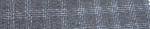 【Hf_a42】ライトグレー+2×1.5cmライトブルー・ファンシーチェック