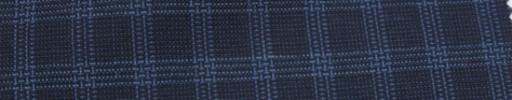 【Hf_a43】ネイビー+2×1.5cmライトブルー・ファンシーチェック