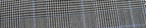 【Hf_a44】白黒グレンチェック+5×4.5cm水色オーバープレイド