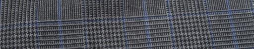 【Hf_a45】グレーグレンチェック+5×4.5cmブルーオーバープレイド