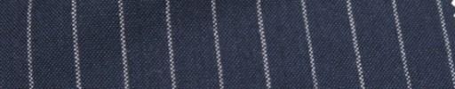 【Hf_a54】ダークスチールブルー+1.2cm巾白ストライプ