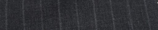 【Hf_a59】チャコールグレー+1.3cm巾チョークストライプ