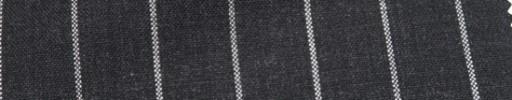 【Hf_a64】チャコールグレー+2cm巾白太ストライプ