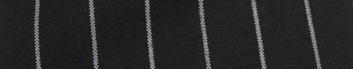 【Hf_a65】ブラック+2cm巾白太ストライプ