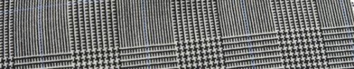 【Hf_a66】白黒グレンチェック+5.5×4cmブルー・ウィンドウペーン