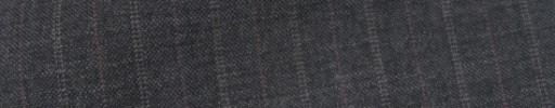 【IB_7s021】チャコールグレー柄+1.3cm巾赤茶・織り交互ストライプ