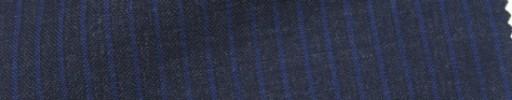 【IB_7s032】チャコールグレー+4ミリ巾ブルーストライプ