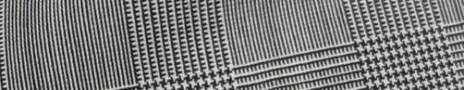 【IB_7s076】白黒5.5×4.5cmグレンチェック