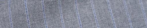 【IB_7s094】ライトグレー+1cm巾ブルーパープルストライプ