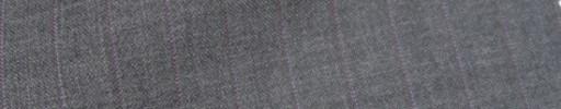 【IB_7s107】ミディアムグレー杢+1cm巾パープルストライプ