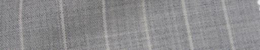 【IB_7s115】ライトグレー+1.4cm巾ホワイトストライプ