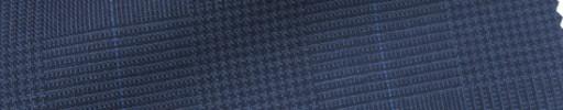 【IB_7s152】ライトネイビーグレンチェック+5.5×4.5cmブルーウィンドウペーン