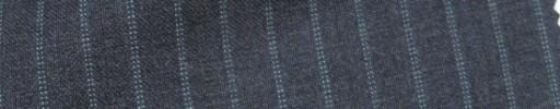 【IB_7s154】ミディアムグレー+7ミリ巾ライトブルーWドットストライプ