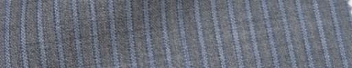 【IB_7s158】ライトグレー+4ミリ巾ライトブルーストライプ