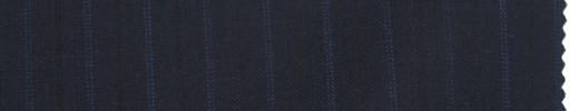 【La_ss02】ダークネイビー+1cm巾ブルードット・黒交互ストライプ