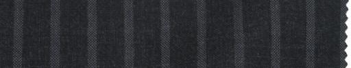 【La_ss08】チャコールグレー+1cm巾ワイドグレーストライプ