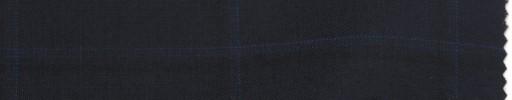 【La_ss09】ダークネイビー+5×4cmブルードット・黒ウィンドウペーン