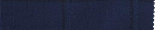 【La_ss10】ライトネイビー+5×4cmブルードット・黒ウィンドウペーン