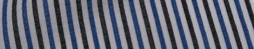 【Mis_7s08】白地+ブルー・グレー3ミリ巾ストライプ