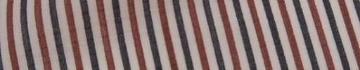 【Mis_7s09】白地+オレンジ・グレー3ミリ巾ストライプ