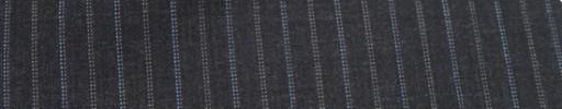【Miy_c7s27】チャコールグレー+1.3cm巾ブルー×白Wドット交互ストライプ