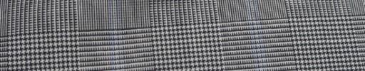 【Miy_c7s49】白黒グレンチェック+6×5cm水色ウィンドウペーン