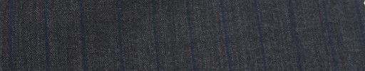 【Miy_c7s64】チャコールグレー+1.3cm巾ネイビーストライプ