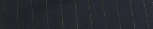 【Miy_c7s76】ダークネイビー地+1.2cm巾イエロー・織り交互ストライプ