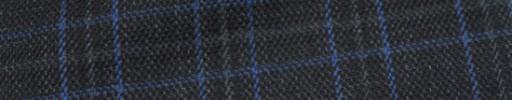 【Ha_Lab19】ダークグレー+5×3.5cmブルー・グレーファンシーチェック