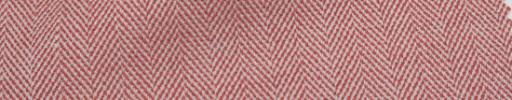 【Ha_Lab21】レッド×ホワイト1.5cm巾ヘリンボーン