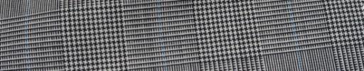 【Hr_Mys20】白黒5.5×4.5cmグレンチェック+水色ウィンドウペーン