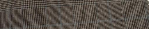 【Hr_Mys21】ブラウン・黒グレンチェック+5.5×4.5cmブルーウィンドウペーン