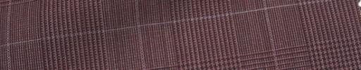 【Hr_Mys24】ブリックレッドグレンチェック+5.5×4.5cm白ウィンドウペーン