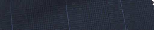 【Hr_Mys25】ネイビーグレンチェック+5.5×4.5cmブルーウィンドウペーン