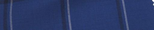 【Hr_Mys40】ライトネイビー+5.5×4.5cm黒・白オーバープレイド