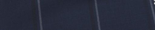 【Hr_Mys42】ダークネイビー+5.5×4.5cm黒・白オーバープレイド