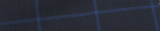 【Hr_Mys53】ダークネイビーグレンチェック+5.5×4.5cmブルーウィンドウペーン