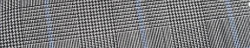 【Hr_Mys54】白黒グレンチェック+5.5×4.5cm水色ウィンドウペーン