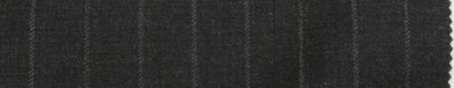 【Br_7w11】チャコールグレー+1.4cm巾ロープドストライプ