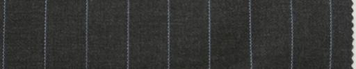 【Br_7w13】チャコールグレー+1.4cm巾ライトブルーストライプ