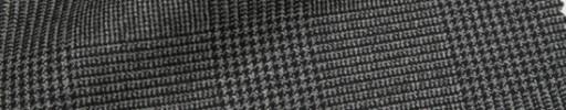 【Ca_71w004】グレー6.5×5.5cmグレンチェック