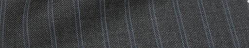 【Ca_71w009】ミディアムグレー+1.3cm巾水色Wストライプ