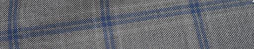【Ca_72w001】ライトグレー+6×4.5cmブルー・ホワイトプレイド