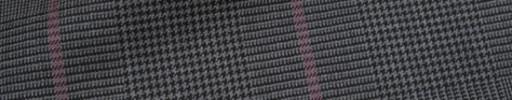 【Ca_72w004】グレー黒グレンチェック+7.5×6cmダスティーピンクウィンドウペーン