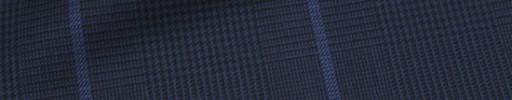 【Ca_72w005】ネイビーグレンチェック+7.5×6cmブルーウィンドウペーン