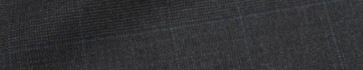 【Ca_72w009】チャコールグレー6.5×5.5cmグレンチェック+ブループレイド
