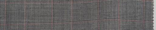 【Do_7w307】白黒5×4cmグレンチェック+赤プレイド
